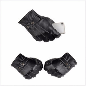 Gloves - Full Finger Leather Motorcycle Gloves