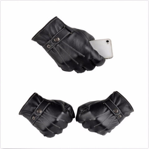 Image of Gloves - Full Finger Leather Motorcycle Gloves
