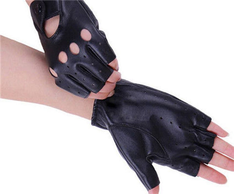 Gloves - Women's Leather Fingerless Driving Gloves