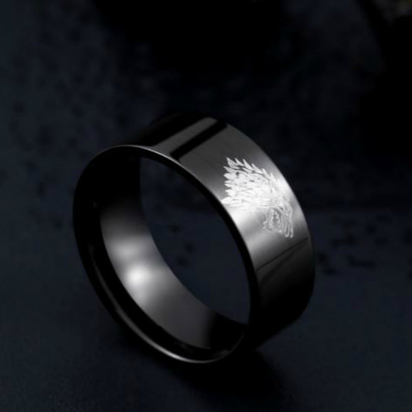Titanium Steel Wolf Ring