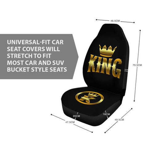 Image of (On Sale) King Car Seat Covers (Set of 2)