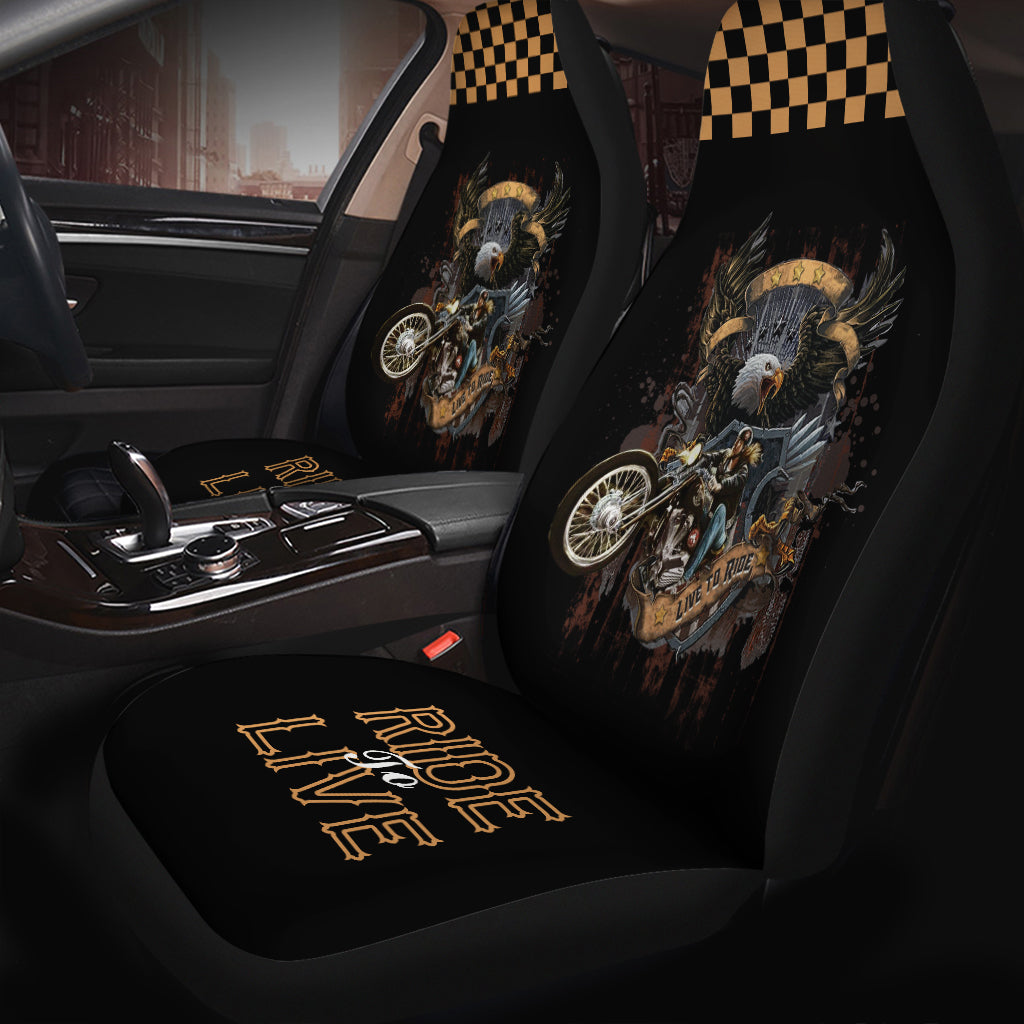 Ride To Live Seat Covers (Set of 2)
