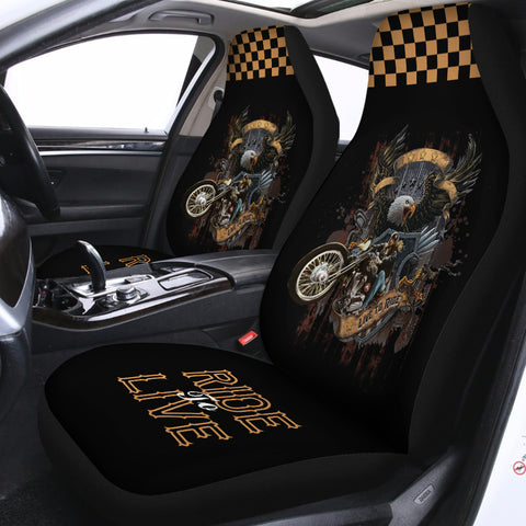 Image of Ride To Live Seat Covers (Set of 2)