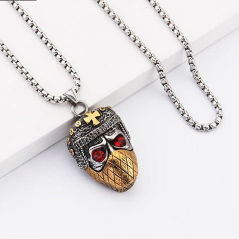 Image of Masked Skull Head Necklace