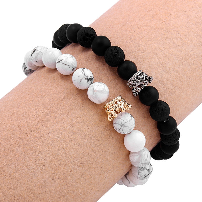 King and Queen Natural Stones Bracelets