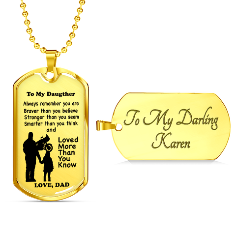 "Image of ""To My Daughter"" Tag Style Necklace"