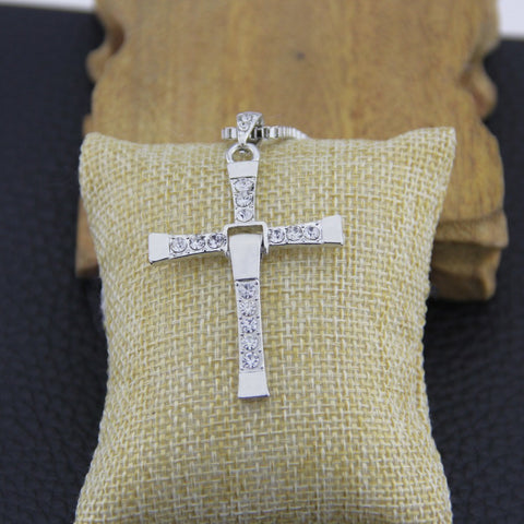 Image of Necklaces - Cross Pendant And Necklace Set
