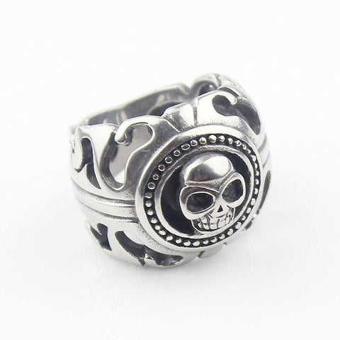 Image of Rings - Skull Head Biker Ring