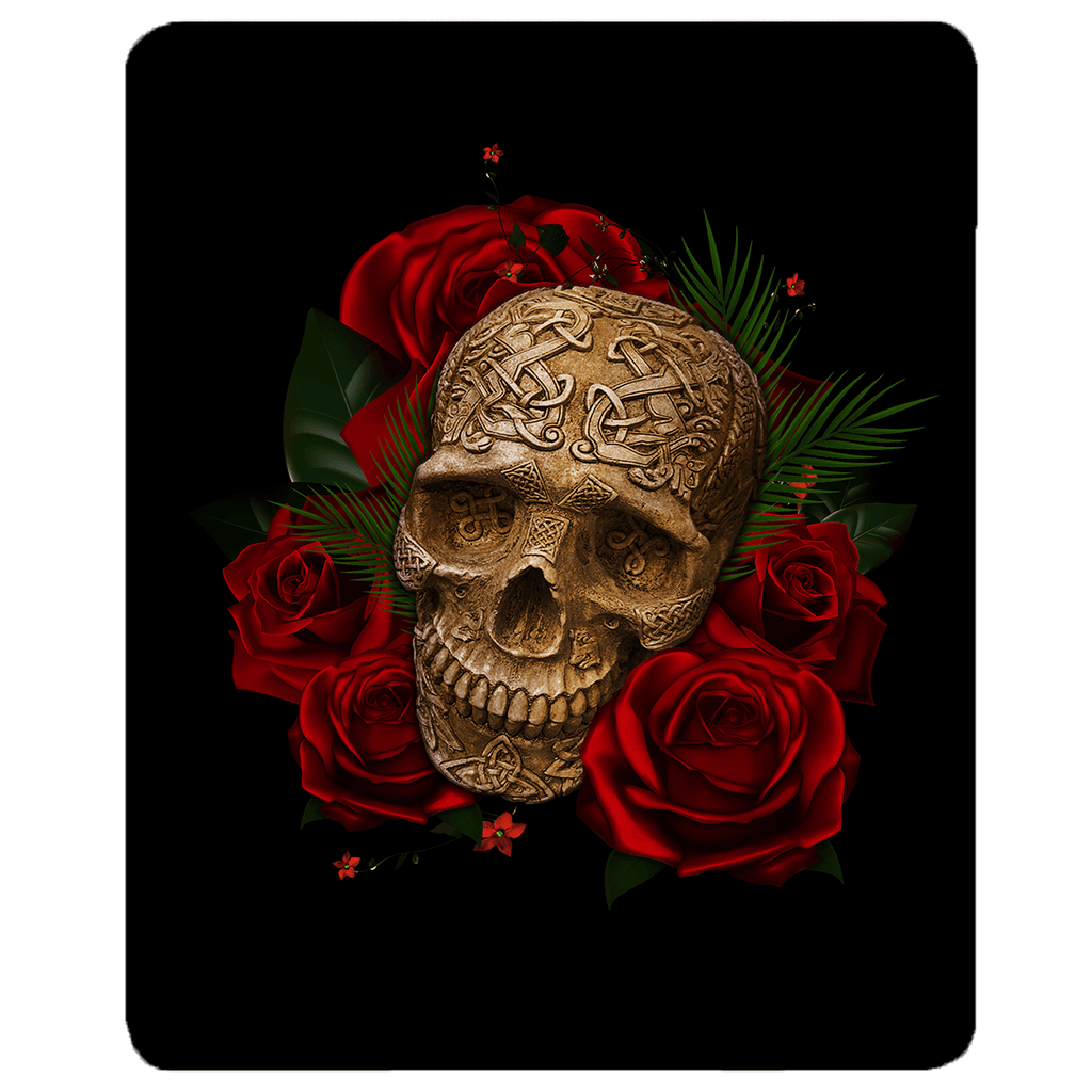 Skull and Roses Sherpa Fleece Blanket