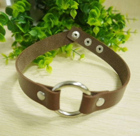 Round Leather Choker