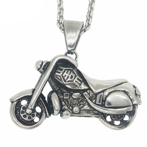 Image of Stainless Steel HD Motorcycle Necklace