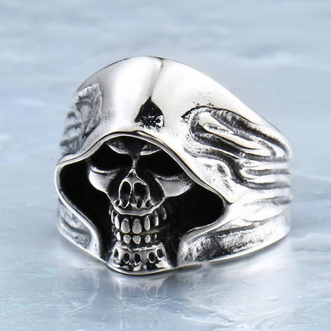 Image of Stainless Steel Death Skull Ring
