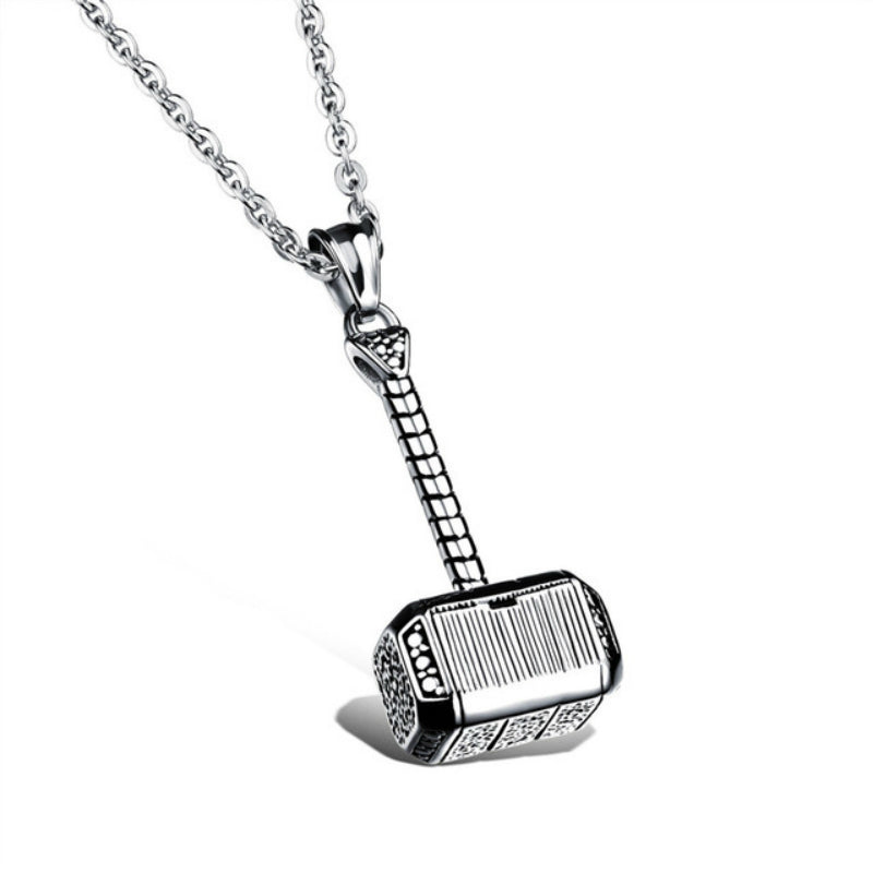 Thor's Hammer Pendant and Necklace Set