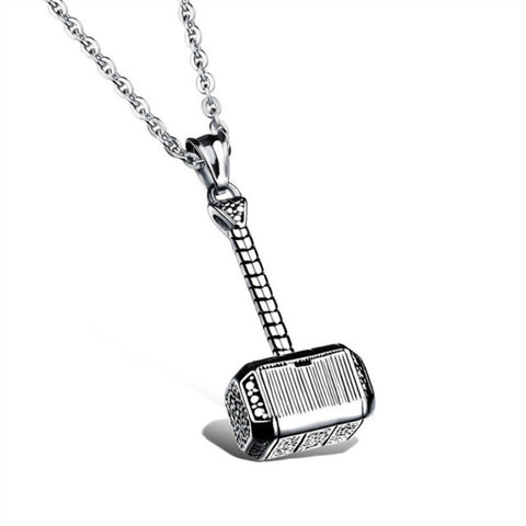 Image of Thor's Hammer Pendant and Necklace Set