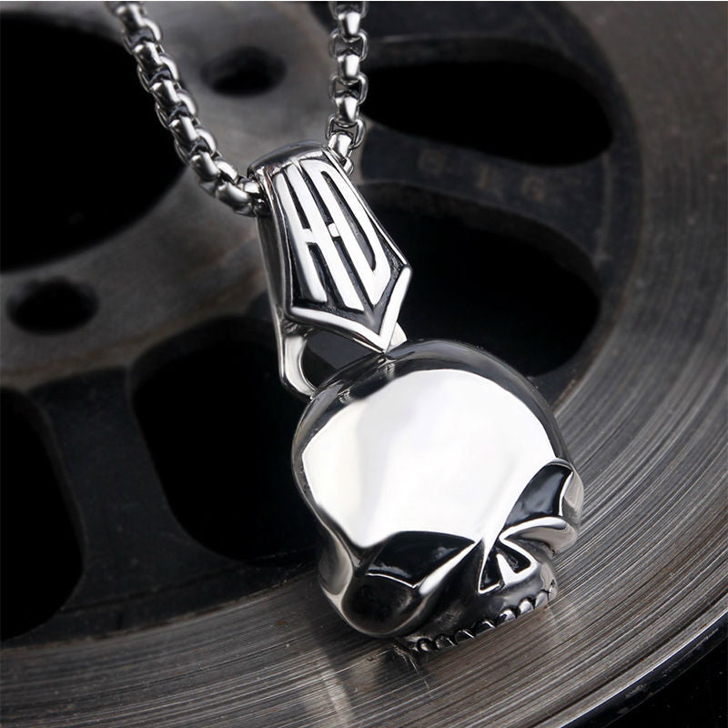 Stainless Steel HD Skull Pendant and Necklace Set
