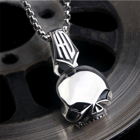 Image of Stainless Steel HD Skull Pendant and Necklace Set