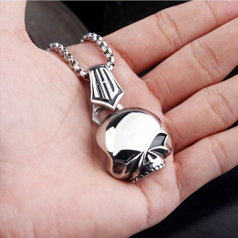 Image of (Two) SS HD Skull Pendant and Necklace Sets
