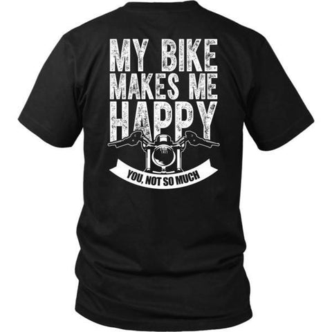 Image of T-shirt - MY BIKE MAKES ME HAPPY