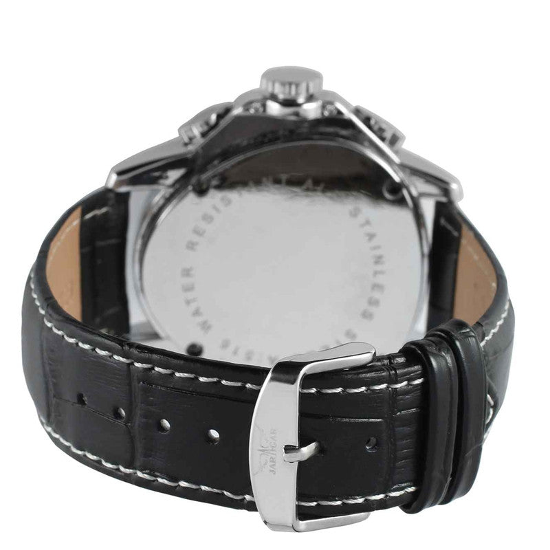 Triangle Design Leather Strap Watch