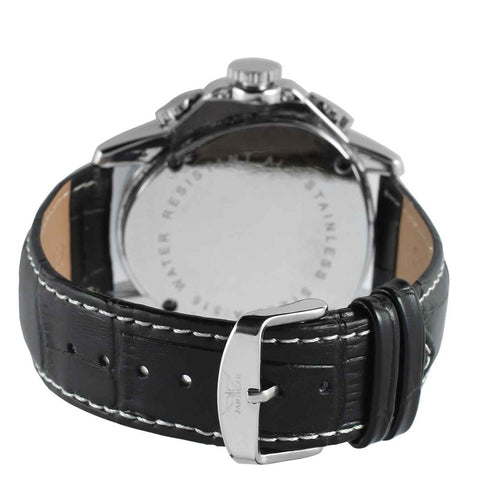 Image of Triangle Design Leather Strap Watch