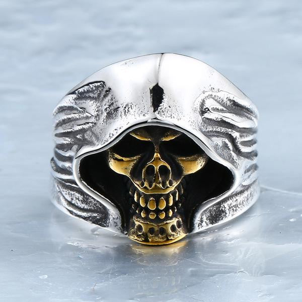 Stainless Steel Death Skull Ring