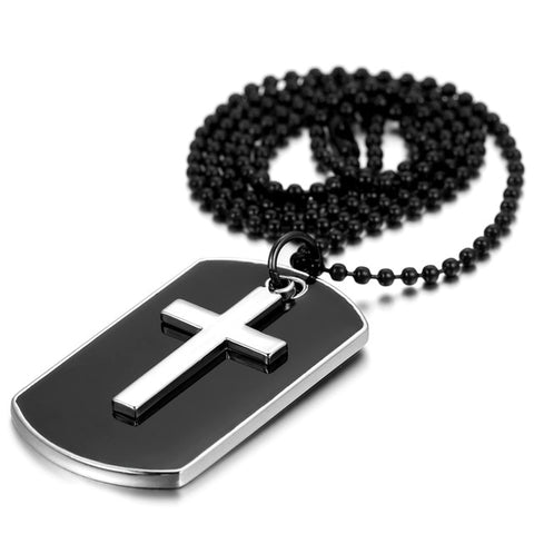 Image of Stainless Steel Cross Dog Tag