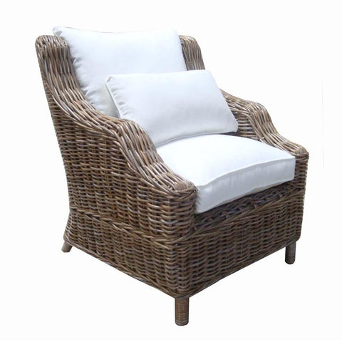 Magnificent Tanner Kubu Gray Rattan Lounge Chair Pabps2019 Chair Design Images Pabps2019Com