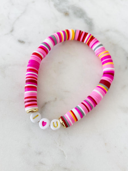 """I 💗 U"" Color Pop Bracelet"