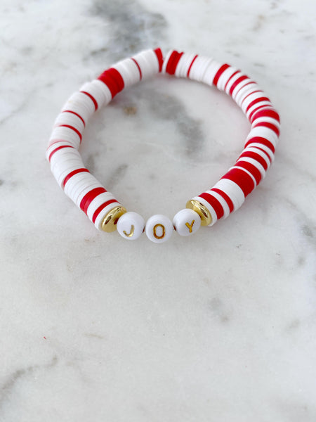 Joy Red & White Color Pop Bracelet