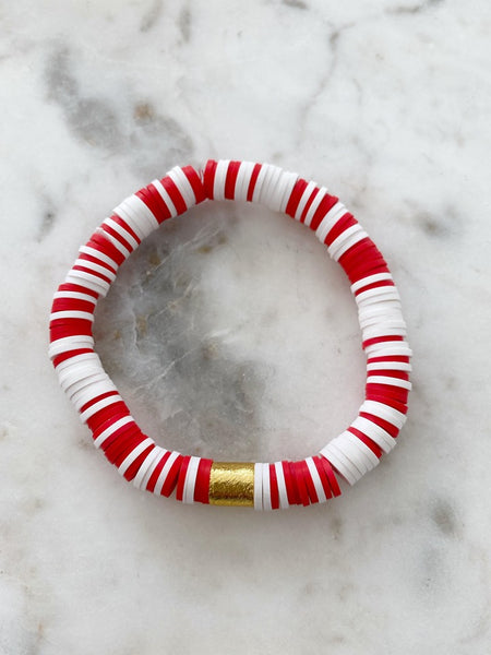 Red & White Color Pop Bracelet