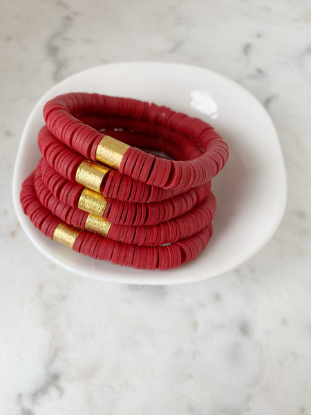 Blood Red Color Pop Bracelets