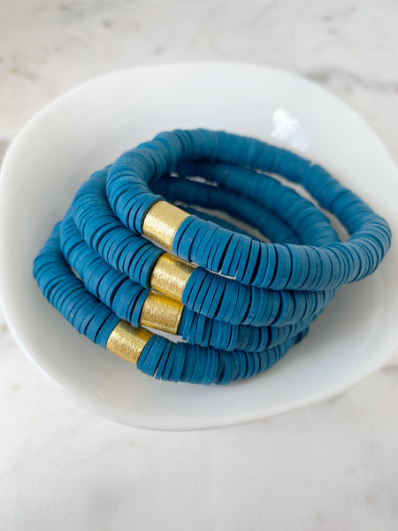 Dark Teal Blue Color POP Bracelets