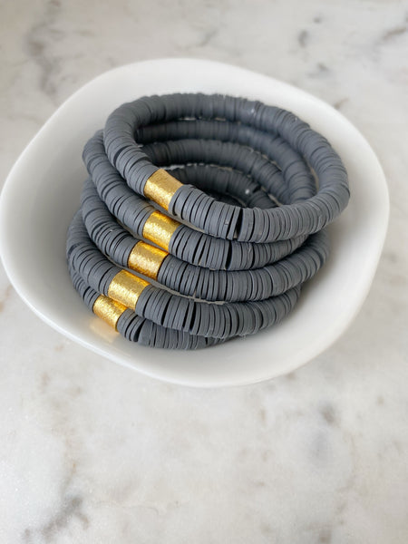 Dark Grey Color Pop Bracelet
