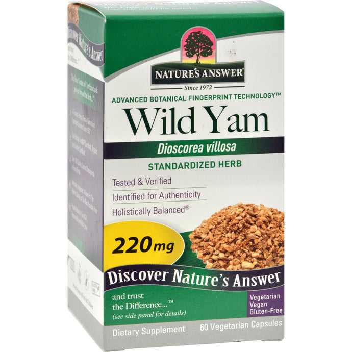 Nature's Answer Wild Yam Root Extract - 60 Vegetarian Capsules