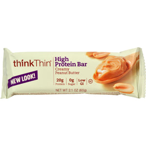 Think Products Thin Bar - Creamy Peanut Butter - Case Of 10 - 2.1 Oz