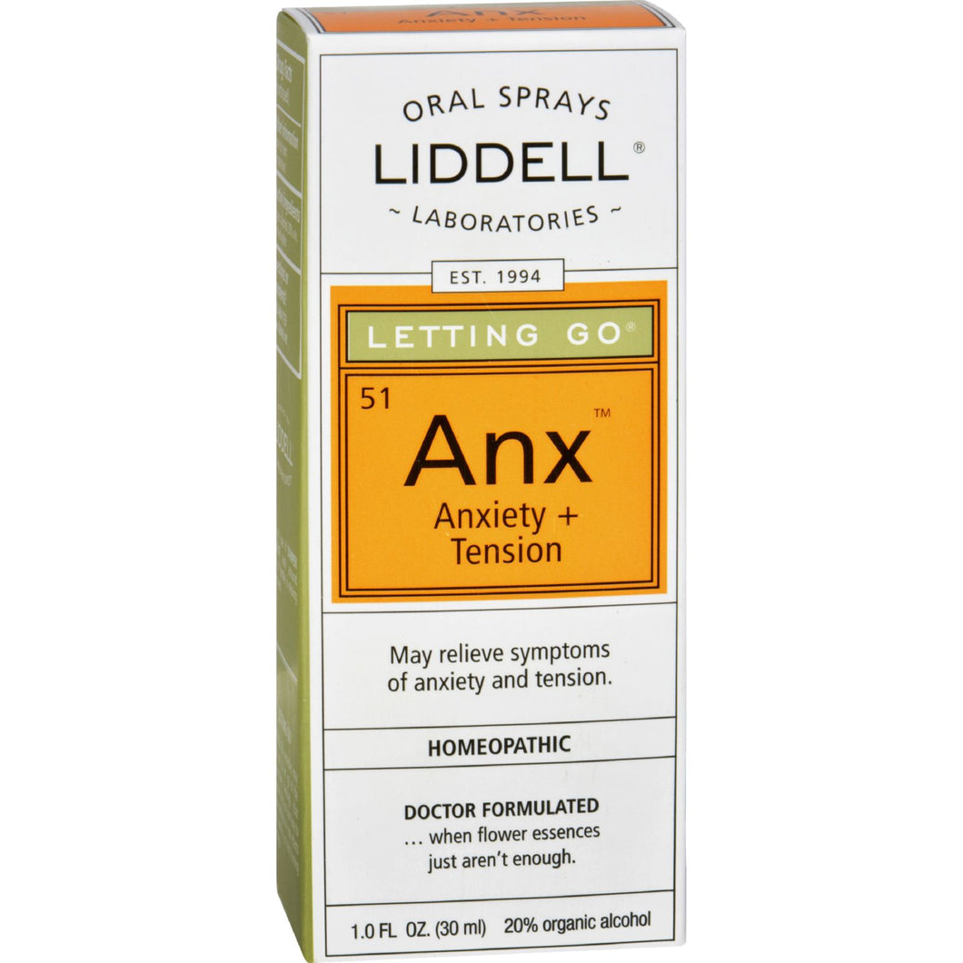 Liddell Homeopathic Letting Go Anxiety Spray - 1 Fl Oz