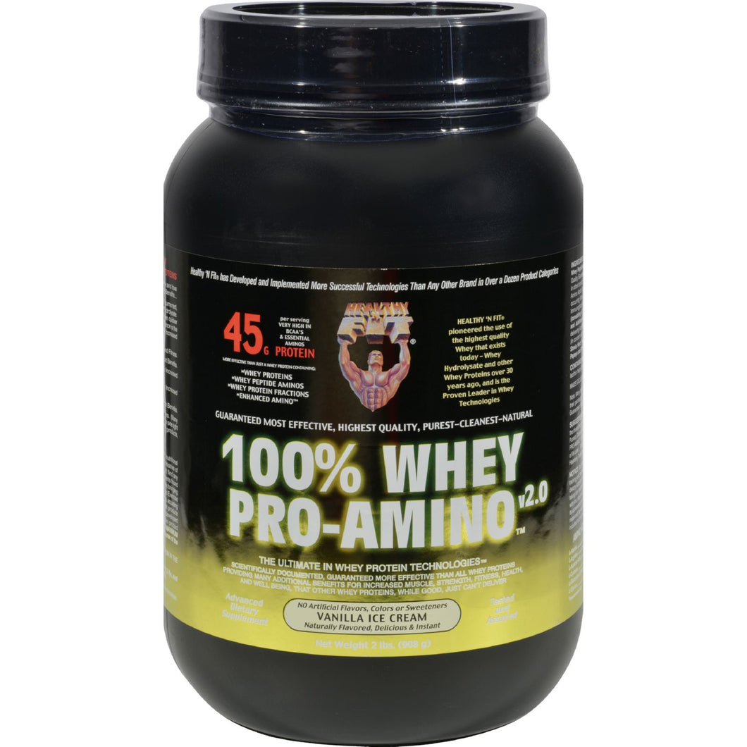 Healthy 'n Fit Nutritionals Whey Pro-amino Vanilla Ice Cream - 2 Lbs