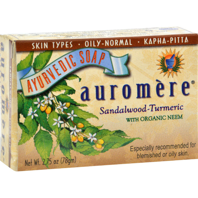 Auromere Ayurvedic Bar Soap Sandalwood-turmeric - 2.75 Oz