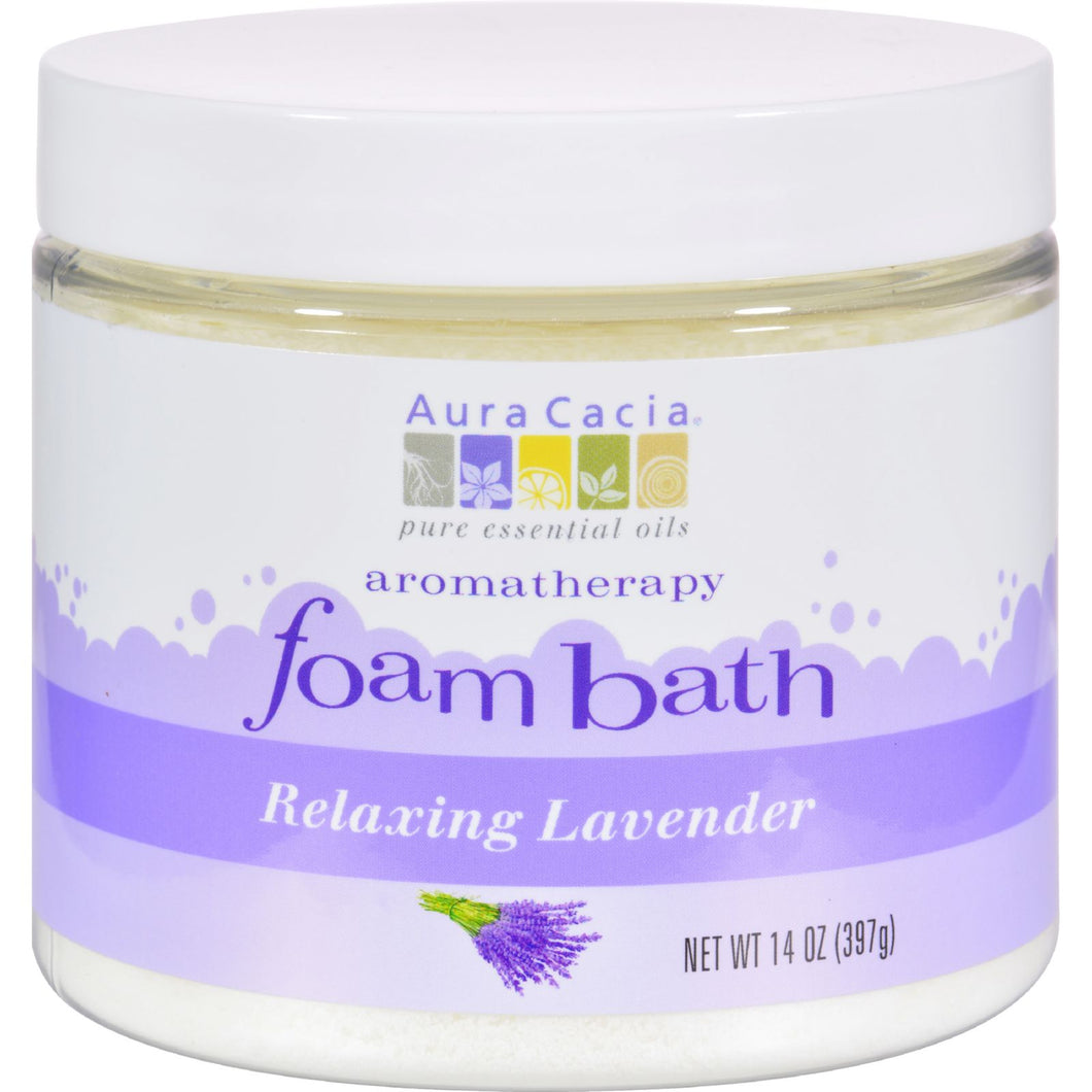 Aura Cacia Foam Bath Relaxing Lavender - 14 Oz