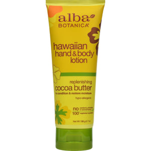 Alba Botanica Hawaiian Hand And Body Lotion Cocoa Butter - 7 Fl Oz