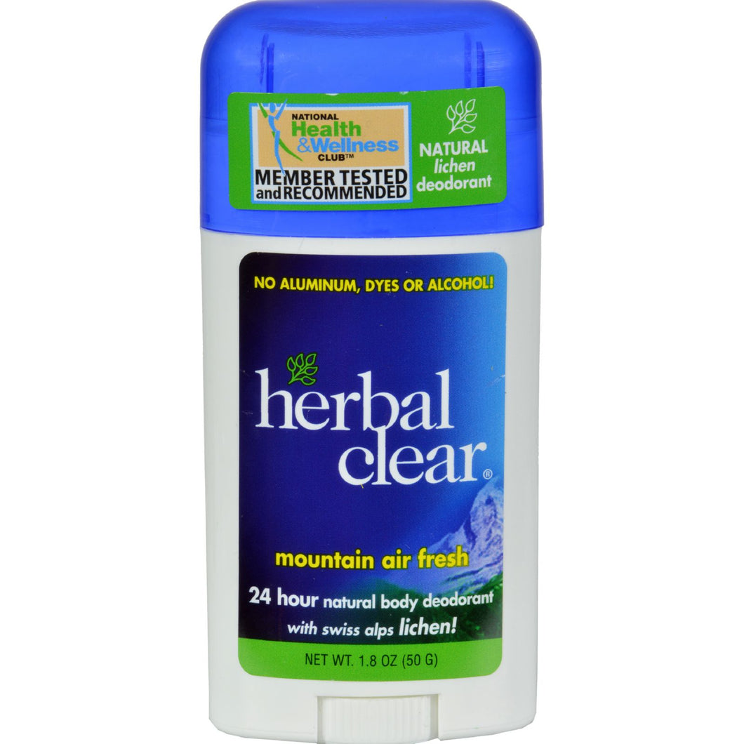 Herbal Clear Deodorant - Stick - Mountain Air Fresh - 1.8 Oz