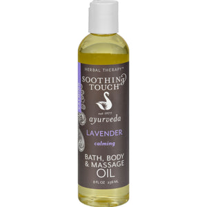 Soothing Touch Bath And Body Oil - Lavender - 8 Oz