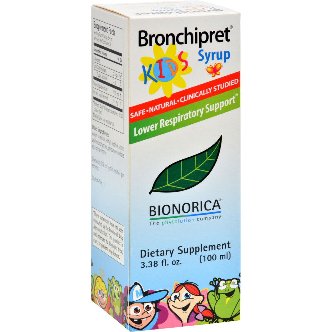 Sinupret Bronchipret Syrup For Kids - 3.38 Fl Oz