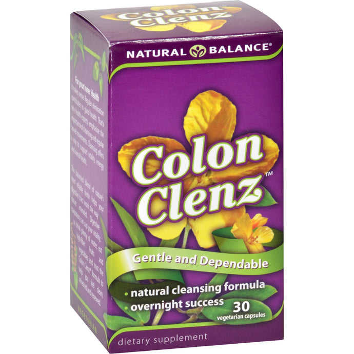 Natural Balance Colon Clenz - 30 Vegetarian Capsules