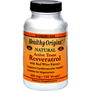 Healthy Origins Natural Resveratrol - 300 Mg - 150 Vegetarian Capsules