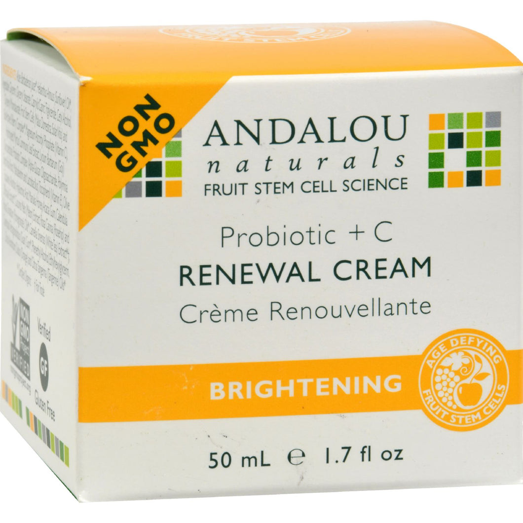 Andalou Naturals Renewal Cream Brightening Probiotic Plus C - 1.7 Fl Oz