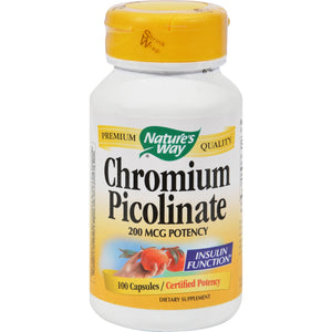 Nature's Way Chromium Picolinate - 100 Capsules
