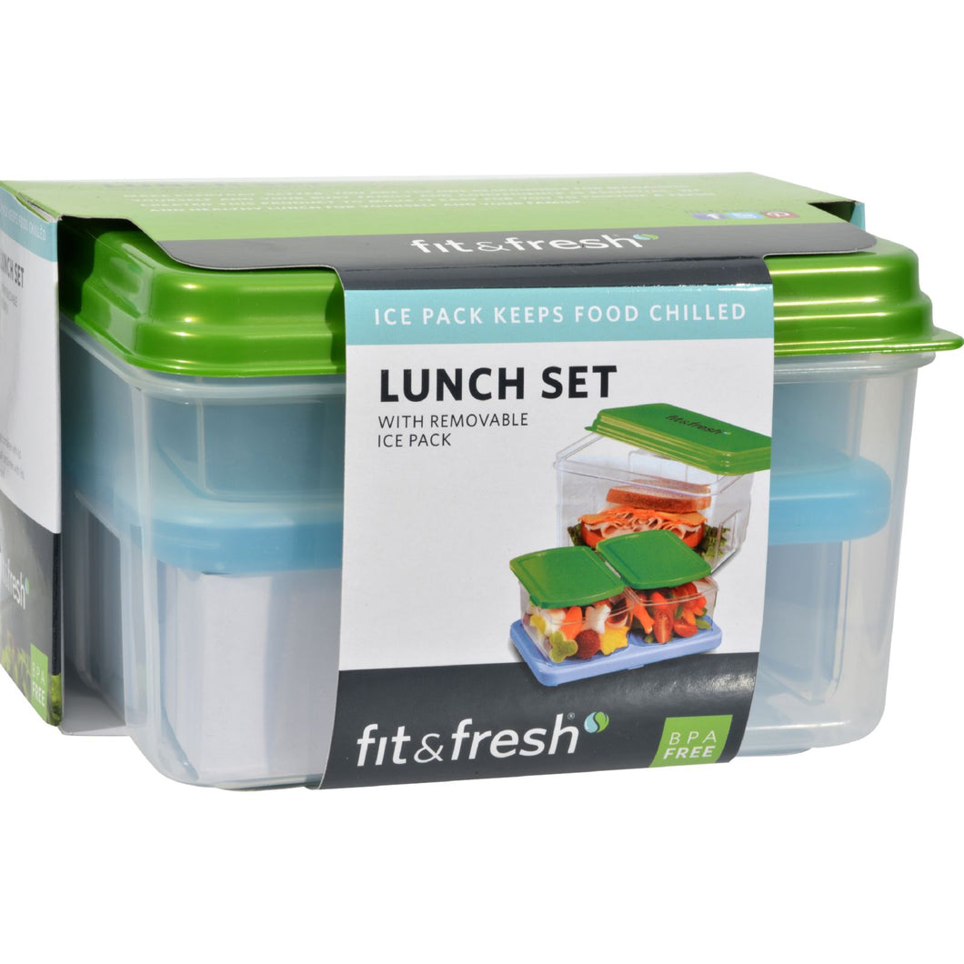 Fit And Fresh Lunch Set With Removable Ice Pack - 1 Container