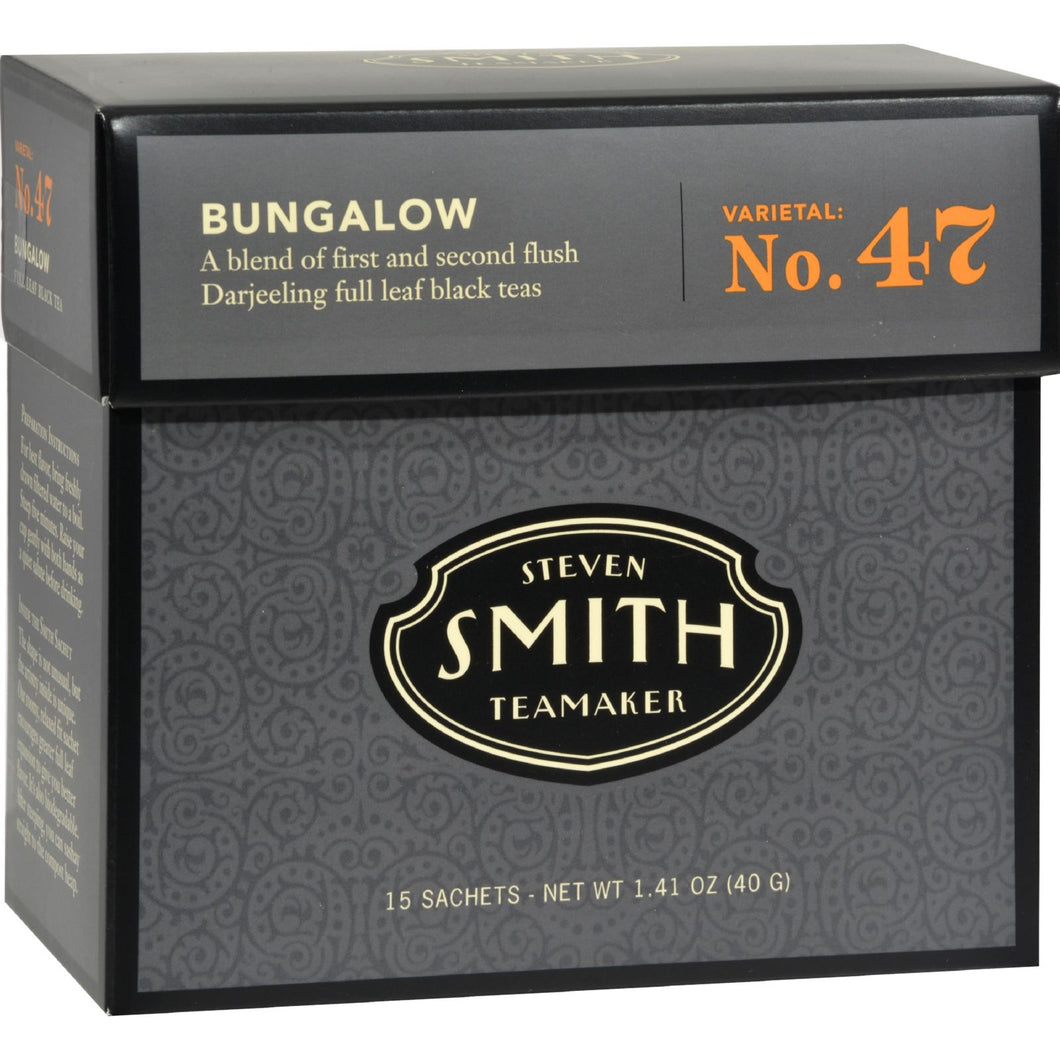 Smith Teamaker Black Tea - Bungalow - Case Of 6 - 15 Bags