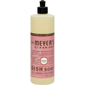 Mrs. Meyer's Liquid Dish Soap - Rosemary - Case Of 6 - 16 Oz